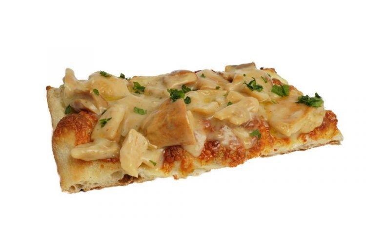 Pizza funghi e mozzarella