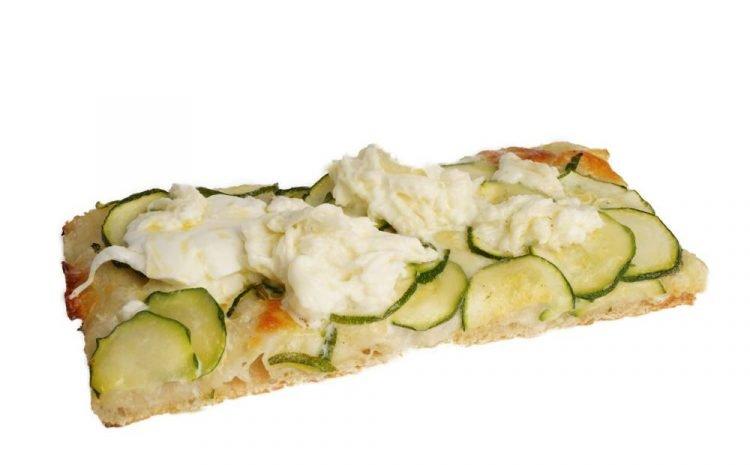 Pizza Zucchine e stracciatella